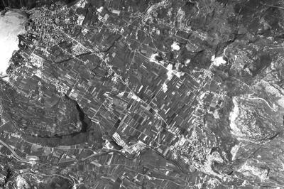 Arco e Riva del Garda, anni '50, foto aerea