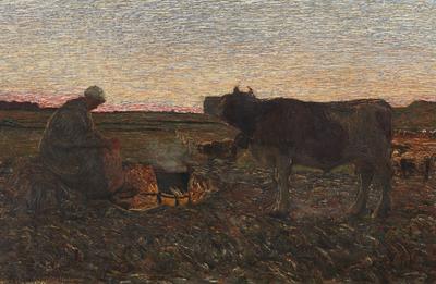 Giovanni Segantini, L'ora mesta, 1892, olio su tela, collezione privata (particolare)