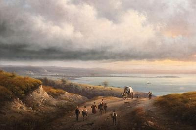Giuseppe Canella, Veduta del Lago di Garda, 1846, olio su tela, MAG