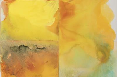 Italo Bressan, Abdia, 1997, tecnica mista su tavola, 200x200 cm (particolare)