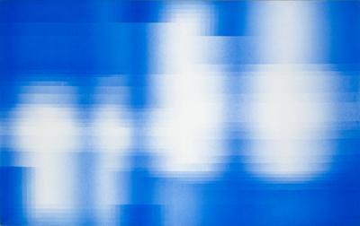 Luigi Senesi, Trasparenza oggettiva,1976, idropittura acrilica su tela, 125,5 x 200,5 cm, Mart, Museo di arte moderna e contemporanea di Trento e Rovereto, Deposito Senesi